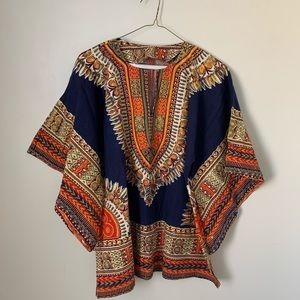 Colorful 70s Tunic